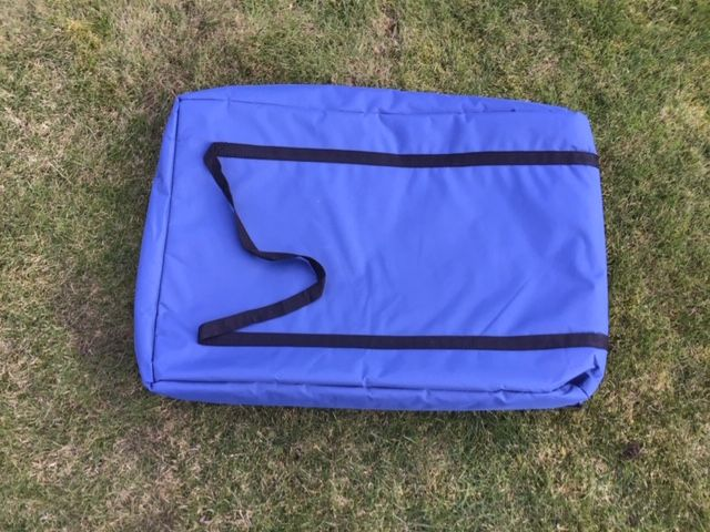 Blue padded TV storage bag